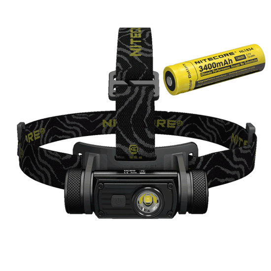 Nitecore HC60 1000 Lumen Headlamp w/18650 3400mAh Battery
