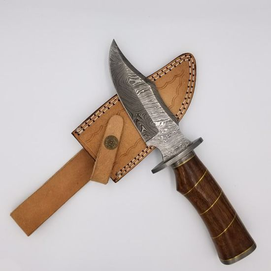 Damascus Skinner Knife w/sheath