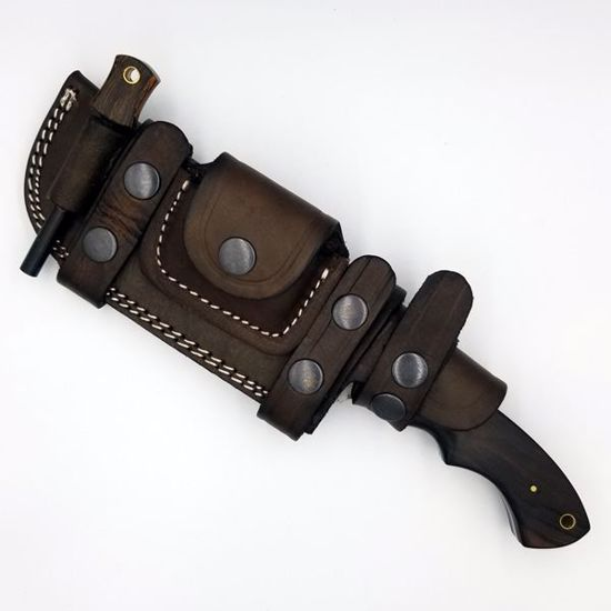 Tracker Knife w/ Leather Shield